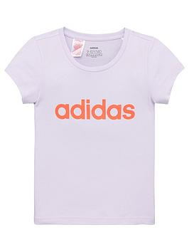 adidas-girls-linear-logo-t-shirt-purple