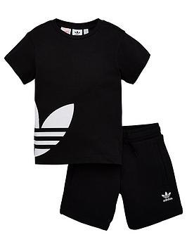 adidas Originals Adidas Originals Bg Trefoil Shorts Set - Black Picture