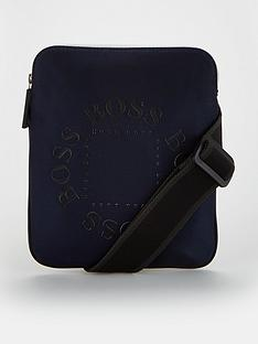 boss-pixel-logo-print-envelope-bag-navy