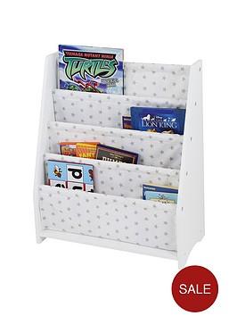 hammock-style-bookshelf-with-printed-star-fabric