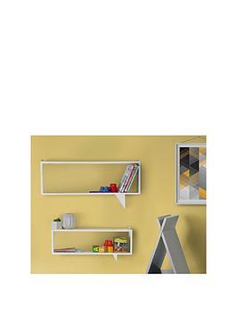 set-of-2-speech-shaped-kids-shelves