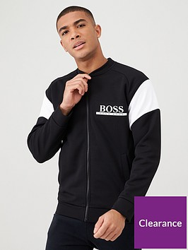 boss-pique-college-style-lounge-top-blackwhite