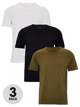 Boss   Three Pack T-Shirts - White/Navy/Khaki