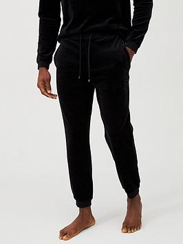 Boss Boss Velour Logo Lounge Pant - Black Picture