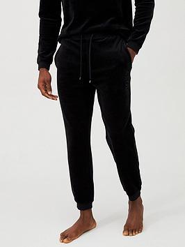 Boss   Velour Logo Lounge Pant - Black