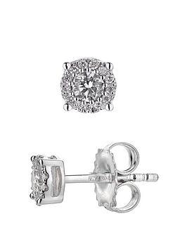 Love DIAMOND Love Diamond 9Ct White Gold 18Pt Diamond Solitaire Stud  ... Picture