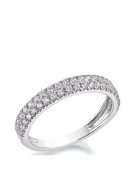 Love DIAMOND Love Diamond 9Ct White Gold 1/2 Carat Diamond Double Row  ... Picture