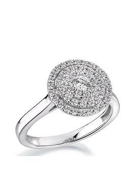 Love DIAMOND Love Diamond 9Ct White Gold 1/2 Carat Diamond Round Cluster  ... Picture