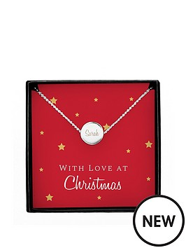 personalised-silver-disc-pendant-necklace-with-christmas-sentiment-card