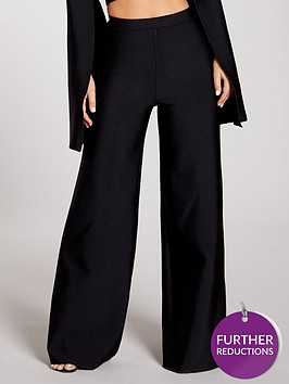 kate-wright-premium-stretch-bandage-wide-leg-trousers-black