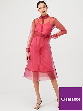 v-by-very-organza-tie-waist-dress-pink