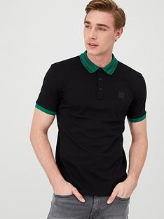 boss-premixt-stripe-collar-polo-shirt-black