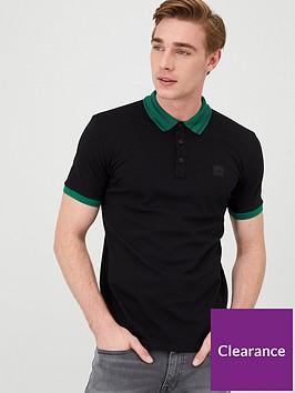 boss-premixt-stripe-collar-polo-shirt-black