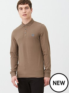 boss-passerby-long-sleeved-polo-shirt-brown