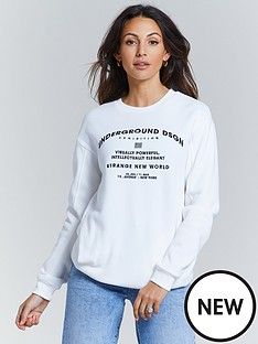michelle-keegan-embroidered-oversized-sweat-ivory