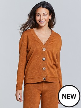 michelle-keegan-ribbed-cardigan-co-ord-top-spice