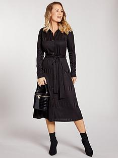 kate-wright-ribbed-jersey-shirt-midi-dress-black