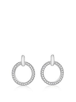 the-love-silver-collection-sterling-silver-cubic-zirconia-hoop-stud-earrings