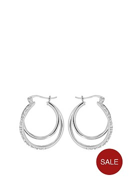 the-love-silver-collection-sterling-silver-cubic-zirconia-double-twisted-hoop-creole-earrings