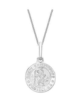 Love GOLD Love Gold 9Ct White Gold St Christopher Pendant Necklace Picture