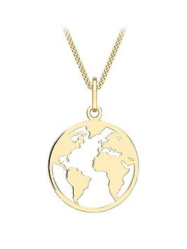 Love GOLD Love Gold 9Ct Gold Earth Cut-Out Pendant Necklace Picture