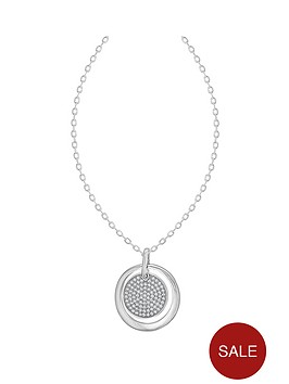 the-love-silver-collection-sterling-silver-cubic-zirconia-layered-disc-pendant-necklace