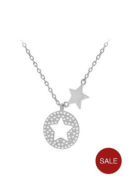 the-love-silver-collection-sterling-silver-cubic-zirconia-star-disc-pendant-necklace