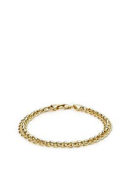 Love GOLD Love Gold 9Ct Gold Fancy Link Curb Bracelet Picture