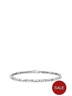 love-gold-9ct-white-gold-cubic-zirconia-bar-links-bracelet