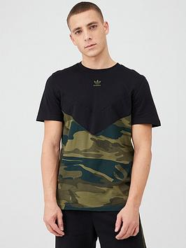adidas Originals Adidas Originals Camo T-Shirt - Black Picture