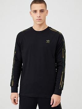 adidas Originals Adidas Originals Camo Logo Long Sleeve T-Shirt - Black Picture