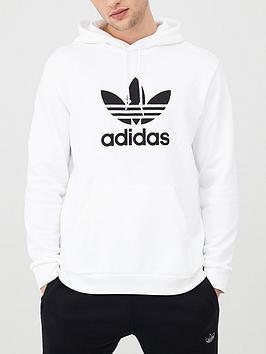 adidas Originals Adidas Originals Trefoil Overhead Hoodie - White Picture
