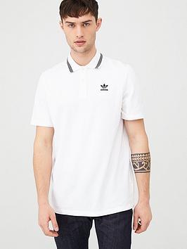 adidas Originals  Adidas Originals Adidas Originals Pique Polo - White