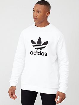 adidas-originals-trefoil-crew-neck-sweat-white