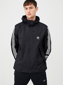 adidas Originals  Adidas Originals Lock Up Windbreaker - Black