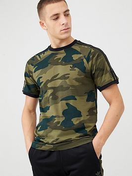 adidas Originals Adidas Originals Camo Print 3 Stripe California T-Shirt -  ... Picture