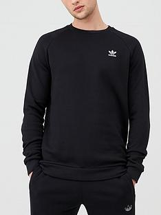 adidas-originals-essential-crew-neck-sweat-black