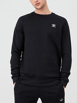 adidas Originals  Adidas Originals Essential Crew Neck Sweat - Black
