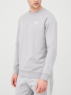 adidas-originals-essential-crew-neck-sweatshirt-medium-grey-heathernbsp