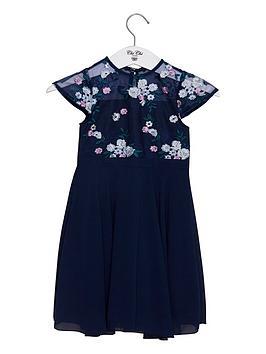 chi chi london Chi Chi London Girls Novah Dress - Navy Picture