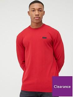 hugo-san-claudio-2-crew-neck-jumper-red