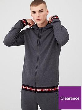 hugo-daple-201-zip-through-hoodie-charcoal