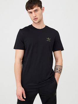 adidas Originals  Adidas Originals Camo Logo Essential T-Shirt - Black