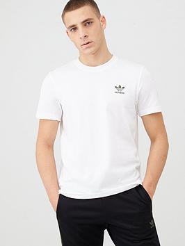 adidas Originals  Adidas Originals Camo Logo Essential T-Shirt - White