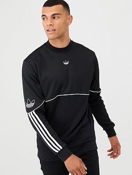 adidas Originals Adidas Originals Outline Crew Neck Sweat - Black Picture