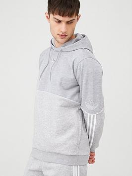 adidas Originals Adidas Originals Outline Overhead Hoodie - Medium Grey  ... Picture