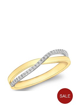 love-gold-9ct-gold-cubic-zirconia-crossover-ring