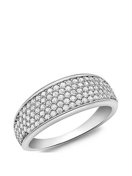 Love GOLD Love Gold 9Ct White Gold Cubic Zirconia Pave Band Ring Picture