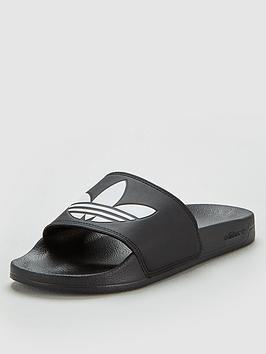adidas Originals Adidas Originals Adilette Lite Slides - Black Picture