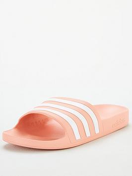 Adidas Adidas Adilette Aqua - Pink/White Picture